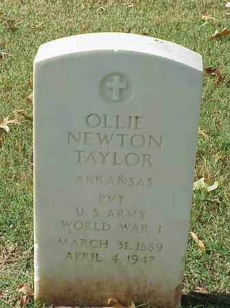 TAYLOR (VETERAN WWI), OLLIE NEWTON - Pulaski County, Arkansas | OLLIE NEWTON TAYLOR (VETERAN WWI) - Arkansas Gravestone Photos