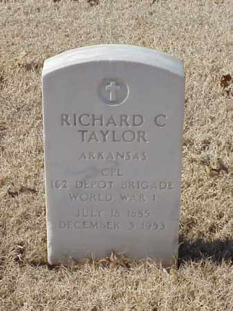 TAYLOR (VETERAN WWI), RICHARD C - Pulaski County, Arkansas | RICHARD C TAYLOR (VETERAN WWI) - Arkansas Gravestone Photos