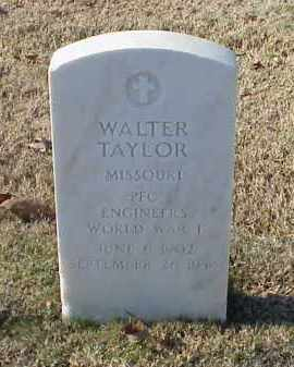 TAYLOR (VETERAN WWI), WALTER - Pulaski County, Arkansas | WALTER TAYLOR (VETERAN WWI) - Arkansas Gravestone Photos