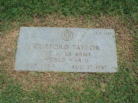 TAYLOR (VETERAN WWII), CLIFFORD - Pulaski County, Arkansas | CLIFFORD TAYLOR (VETERAN WWII) - Arkansas Gravestone Photos
