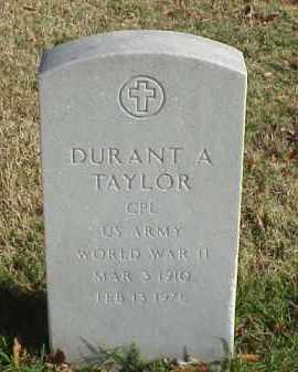 TAYLOR (VETERAN WWII), DURANT A - Pulaski County, Arkansas | DURANT A TAYLOR (VETERAN WWII) - Arkansas Gravestone Photos