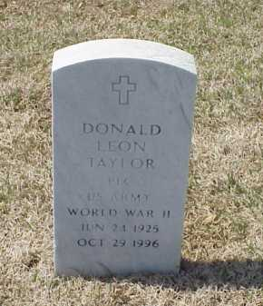 TAYLOR (VETERAN WWII), DONALD LEON - Pulaski County, Arkansas | DONALD LEON TAYLOR (VETERAN WWII) - Arkansas Gravestone Photos