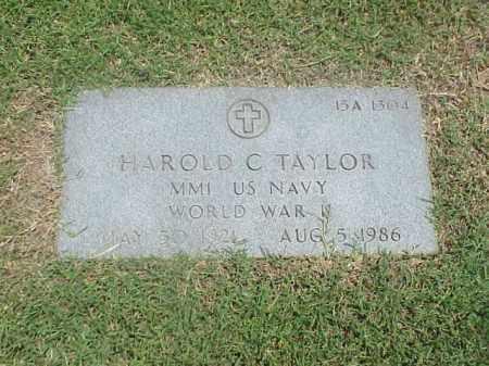 TAYLOR (VETERAN WWII), HAROLD C - Pulaski County, Arkansas | HAROLD C TAYLOR (VETERAN WWII) - Arkansas Gravestone Photos