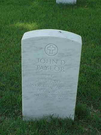 TAYLOR (VETERAN WWII), JOHN D - Pulaski County, Arkansas | JOHN D TAYLOR (VETERAN WWII) - Arkansas Gravestone Photos