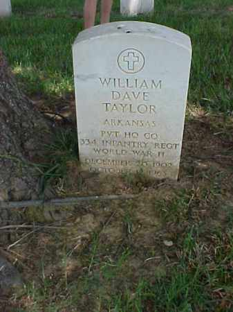 TAYLOR (VETERAN WWII), WILLIAM DAVE - Pulaski County, Arkansas | WILLIAM DAVE TAYLOR (VETERAN WWII) - Arkansas Gravestone Photos