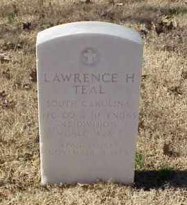 TEAL (VETERAN WWI), LAWRENCE H - Pulaski County, Arkansas | LAWRENCE H TEAL (VETERAN WWI) - Arkansas Gravestone Photos