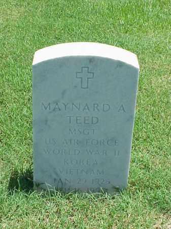 TEED (VETERAN 3 WARS), MAYNARD A - Pulaski County, Arkansas | MAYNARD A TEED (VETERAN 3 WARS) - Arkansas Gravestone Photos