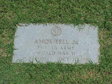 TELL, JR (VETERAN WWII), AMOS - Pulaski County, Arkansas | AMOS TELL, JR (VETERAN WWII) - Arkansas Gravestone Photos