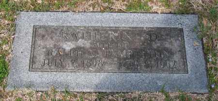 TEMPLETON, KATHERINE - Pulaski County, Arkansas | KATHERINE TEMPLETON - Arkansas Gravestone Photos
