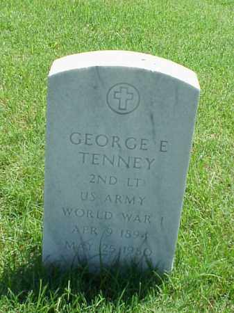 TENNEY (VETERAN WWI), GEORGE E - Pulaski County, Arkansas | GEORGE E TENNEY (VETERAN WWI) - Arkansas Gravestone Photos