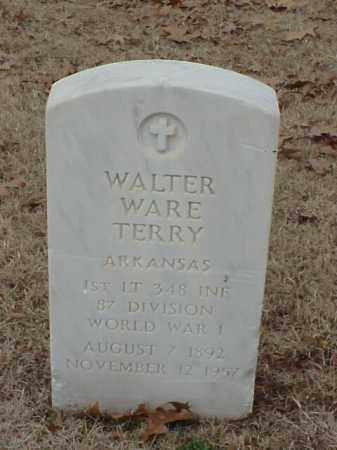 TERRY (VETERAN WWI), WALTER WARE - Pulaski County, Arkansas | WALTER WARE TERRY (VETERAN WWI) - Arkansas Gravestone Photos
