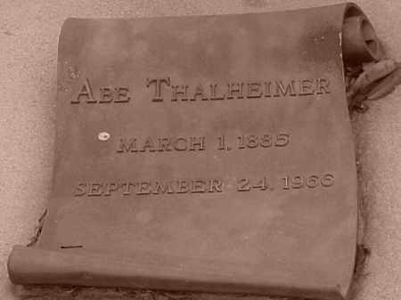 THALHEIMER, ABE - Pulaski County, Arkansas | ABE THALHEIMER - Arkansas Gravestone Photos