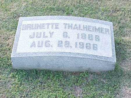 THALHEIMER, BRUNETTE - Pulaski County, Arkansas | BRUNETTE THALHEIMER - Arkansas Gravestone Photos