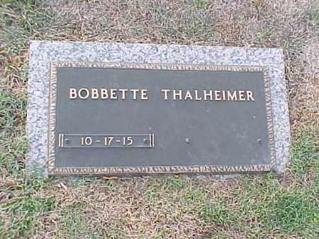 THALHEIMER, BOBBETTE - Pulaski County, Arkansas | BOBBETTE THALHEIMER - Arkansas Gravestone Photos