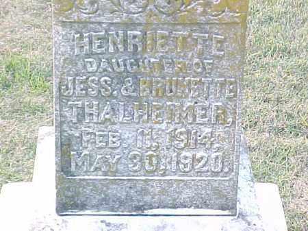 THALHEIMER, HENRIETTE (2) - Pulaski County, Arkansas | HENRIETTE (2) THALHEIMER - Arkansas Gravestone Photos