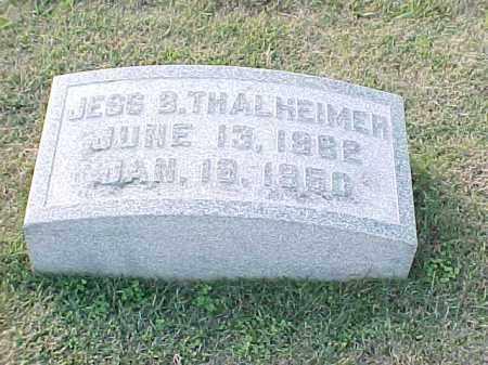 THALHEIMER, JESS B - Pulaski County, Arkansas | JESS B THALHEIMER - Arkansas Gravestone Photos