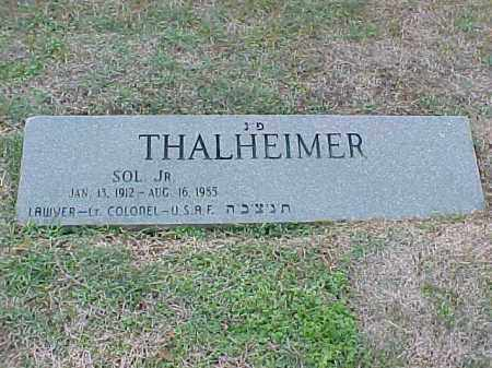 THALHEIMER, JR (VETERAN), SOL - Pulaski County, Arkansas | SOL THALHEIMER, JR (VETERAN) - Arkansas Gravestone Photos
