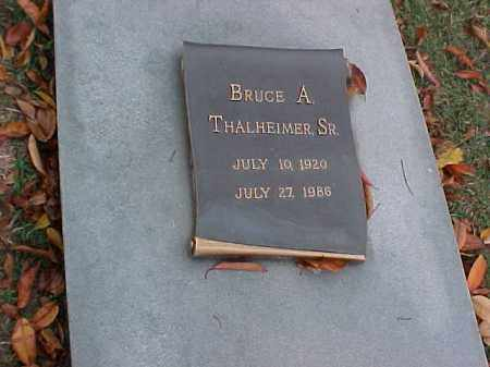 THALHEIMER, SR, BRUCE A - Pulaski County, Arkansas | BRUCE A THALHEIMER, SR - Arkansas Gravestone Photos