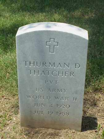 THATCHER (VETERAN WWII), THURMAN D - Pulaski County, Arkansas | THURMAN D THATCHER (VETERAN WWII) - Arkansas Gravestone Photos
