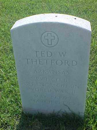 THETFORD (VETERAN WWII), TED W - Pulaski County, Arkansas | TED W THETFORD (VETERAN WWII) - Arkansas Gravestone Photos