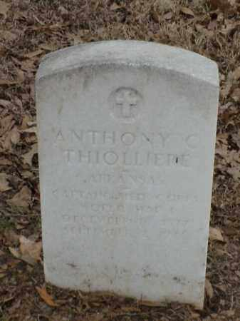 THIOLLIERE (VETERAN, ANTHONY CLAUDIUS - Pulaski County, Arkansas | ANTHONY CLAUDIUS THIOLLIERE (VETERAN - Arkansas Gravestone Photos