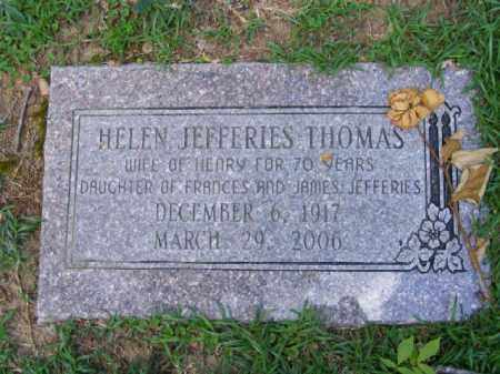 JEFFERIES THOMAS, HELEN - Pulaski County, Arkansas | HELEN JEFFERIES THOMAS - Arkansas Gravestone Photos