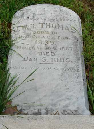 THOMAS, J.W.B. - Pulaski County, Arkansas | J.W.B. THOMAS - Arkansas Gravestone Photos