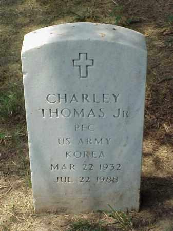 THOMAS, JR (VETERAN KOR), CHARLEY - Pulaski County, Arkansas | CHARLEY THOMAS, JR (VETERAN KOR) - Arkansas Gravestone Photos