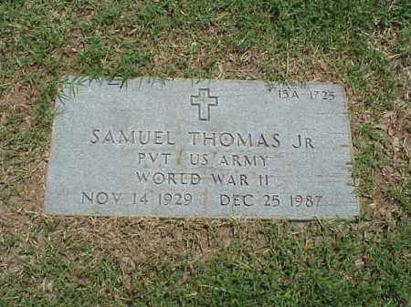 THOMAS, JR (VETERAN WWII), SAMUEL - Pulaski County, Arkansas | SAMUEL THOMAS, JR (VETERAN WWII) - Arkansas Gravestone Photos