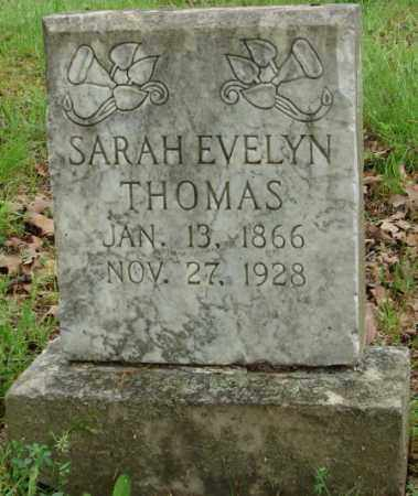 THOMAS, SARAH EVELYN - Pulaski County, Arkansas | SARAH EVELYN THOMAS - Arkansas Gravestone Photos