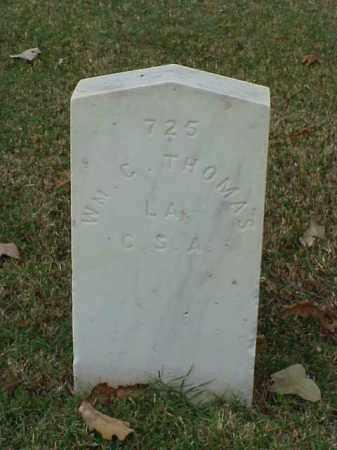 THOMAS (VETERAN CSA), WILLIAM C - Pulaski County, Arkansas | WILLIAM C THOMAS (VETERAN CSA) - Arkansas Gravestone Photos