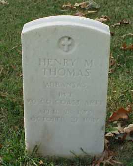 THOMAS (VETERAN), HENRY M - Pulaski County, Arkansas | HENRY M THOMAS (VETERAN) - Arkansas Gravestone Photos