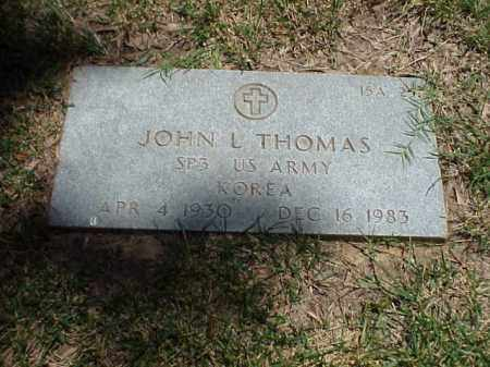 THOMAS (VETERAN KOR), JOHN L - Pulaski County, Arkansas | JOHN L THOMAS (VETERAN KOR) - Arkansas Gravestone Photos