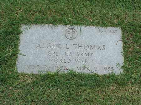 THOMAS (VETERAN WWI), ALGER L - Pulaski County, Arkansas | ALGER L THOMAS (VETERAN WWI) - Arkansas Gravestone Photos