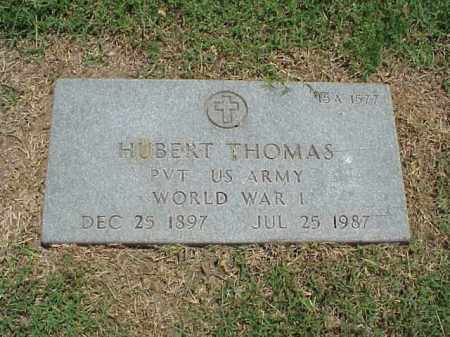 THOMAS (VETERAN WWI), HUBERT - Pulaski County, Arkansas | HUBERT THOMAS (VETERAN WWI) - Arkansas Gravestone Photos