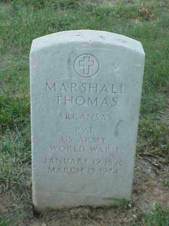 THOMAS (VETERAN WWI), MARSHALL - Pulaski County, Arkansas | MARSHALL THOMAS (VETERAN WWI) - Arkansas Gravestone Photos
