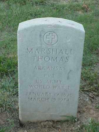 THOMAS (VETERAN WWI), MARSHALL - Pulaski County, Arkansas | MARSHALL THOMAS (VETERAN WWI) - Arkansas Gravestone Photos