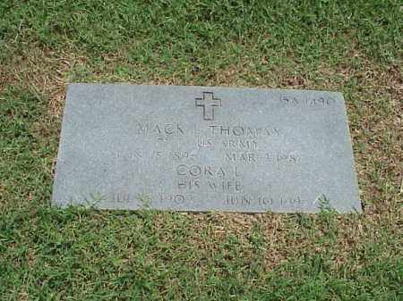 THOMAS (VETERAN WWI), MACK L - Pulaski County, Arkansas | MACK L THOMAS (VETERAN WWI) - Arkansas Gravestone Photos