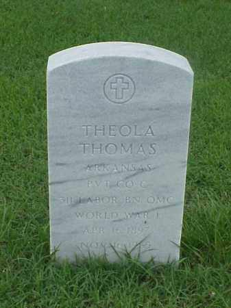 THOMAS (VETERAN WWI), THEOLA - Pulaski County, Arkansas | THEOLA THOMAS (VETERAN WWI) - Arkansas Gravestone Photos
