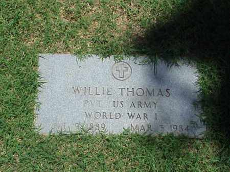 THOMAS (VETERAN WWI), WILLIE - Pulaski County, Arkansas | WILLIE THOMAS (VETERAN WWI) - Arkansas Gravestone Photos