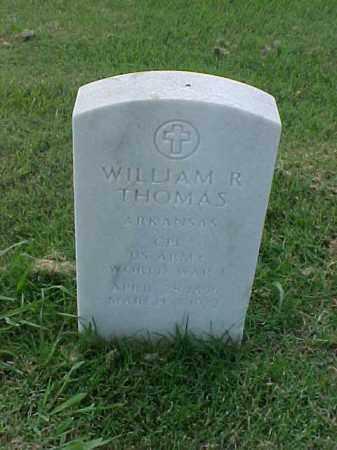 THOMAS (VETERAN WWI), WILLIAM R - Pulaski County, Arkansas | WILLIAM R THOMAS (VETERAN WWI) - Arkansas Gravestone Photos
