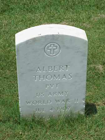 THOMAS (VETERAN WWII), ALBERT - Pulaski County, Arkansas | ALBERT THOMAS (VETERAN WWII) - Arkansas Gravestone Photos