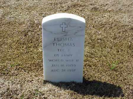 THOMAS (VETERAN WWII), ELISHA - Pulaski County, Arkansas | ELISHA THOMAS (VETERAN WWII) - Arkansas Gravestone Photos