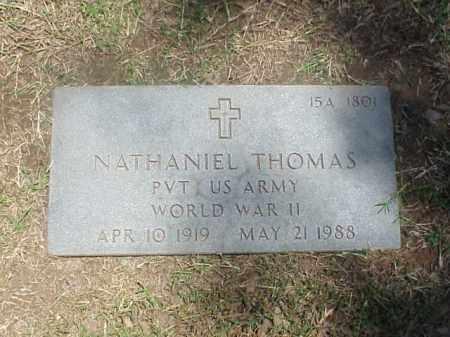 THOMAS (VETERAN WWII), NATHANIEL - Pulaski County, Arkansas | NATHANIEL THOMAS (VETERAN WWII) - Arkansas Gravestone Photos