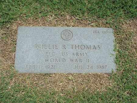 THOMAS (VETERAN WWII), WILLIE R - Pulaski County, Arkansas | WILLIE R THOMAS (VETERAN WWII) - Arkansas Gravestone Photos