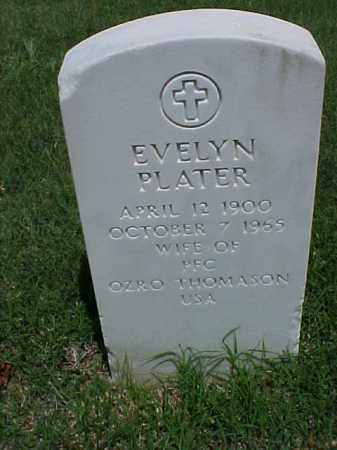 THOMASON, EVELYN PLATER - Pulaski County, Arkansas | EVELYN PLATER THOMASON - Arkansas Gravestone Photos