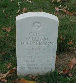 THOMERSON (VETERAN WWII), COYE WILLIAM - Pulaski County, Arkansas | COYE WILLIAM THOMERSON (VETERAN WWII) - Arkansas Gravestone Photos