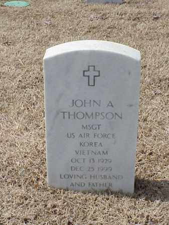 THOMPSON  (VETERAN 2 WARS), JOHN A - Pulaski County, Arkansas | JOHN A THOMPSON  (VETERAN 2 WARS) - Arkansas Gravestone Photos