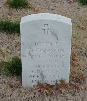 THOMPSON  (VETERAN WWI), JOHN F - Pulaski County, Arkansas | JOHN F THOMPSON  (VETERAN WWI) - Arkansas Gravestone Photos