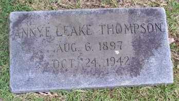 LEAKE THOMPSON, ANNYE - Pulaski County, Arkansas | ANNYE LEAKE THOMPSON - Arkansas Gravestone Photos